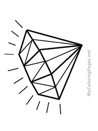 diamond clipart diamond clipart coloring page pencil and in color diamond