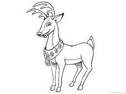 printable reindeer coloring pages coloring