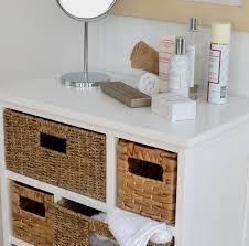 White Wicker Bathroom Storage by Tetbury Large White Storage Chest Of Drawers Sturdy White Basket