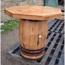 Wine Barrel Patio Table Square Top Oak Barrel Table