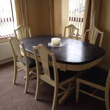 Chalk Paint Makeover Complete Pine Dining Table And Chairs - Pine kitchen tables and chairs