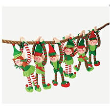 express deluxe plush hanging christmas elves party