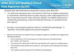 data registries ppt qualified clinical data registries powerpoint presentation
