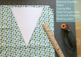 how to make a fabric bunting u2013 glorious treats