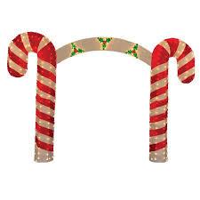 Candy Cane Lights 10 U0027 Pre Lit Candy Cane Christmas Archway Yard Art Decoration