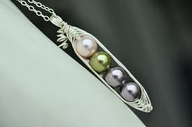 2 peas in a pod jewelry peas in a pod necklace with custom colors swarovski elements glass