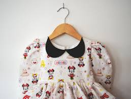first trip to disney minnie mouse dress with peter pan collar and