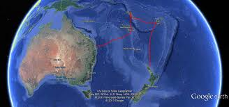 World Map Fiji by 150d Nz Fiji Vanuatu New Cal Oz Google Earth Map With Track