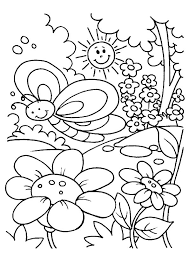 happy spring coloring pages park free coloring book picture