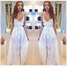 white lace prom dress classical sheer lace prom dresses spaghetti see through