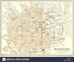 Trier Germany Map by Germany Wiesbaden 1931 Vintage Map Stock Photo Royalty Free