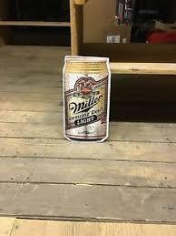 miller genuine draft light miller genuine draft light can metal beer sign 15 x8 mgd ebay