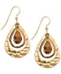 silver forest earrings silver forest earrings gold tone bronze glass bead hammered