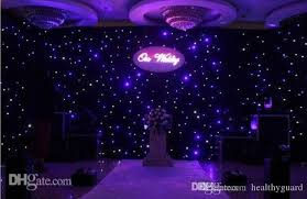 stage backdrops blue white color led curtain wedding stage backdrops cloth
