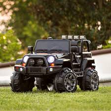 open jeep modified in white colour best choice products 12v ride on car truck w remote control 3
