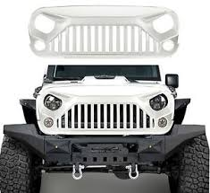 jeep rubicon white 2017 front full white painting grille grid grill for jeep wrangler jk