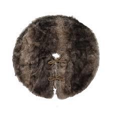 faux fur tree skirt smith 22 faux fur tree skirt brown seasonal