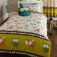 bedmaker woodland creatures print duvet cover with 2 pillow cases