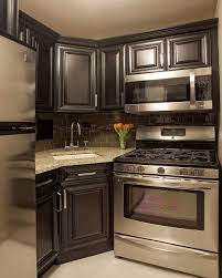 black kitchen cabinets in a small kitchen small kitchen design ideas pictures remodel and decor