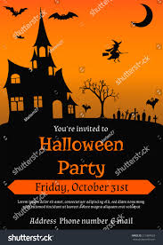 vector illustration halloween party invitation vintage stock