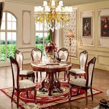 round marble dining table and chairs european round wood into solid wood furniture packages round dining