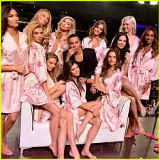 victoria s victoria s secret angels prep in hair makeup for shanghai show