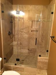 Bathroom Shower Remodeling Pictures Travertine Tub To Shower Conversion Bathroom Remodeling Project In