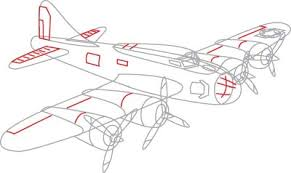drawn aircraft line drawing pencil and in color drawn aircraft