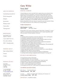 Sous Chef Resume Sample by Astounding Personal Chef Resume Sample 68 With Additional Skills