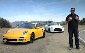 nissan gtr vs porsche 911 footage fridays nissan gt r black edition vs porsche 911 turbo s