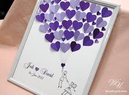 purple wedding guest book wedding guest book alternative wedding guest by weddingukraine