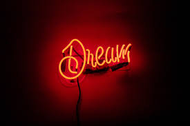 dream neon sign neon glow neon and imagination