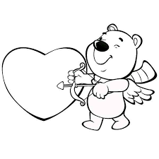 cute bear acting cupid valentine u0027s