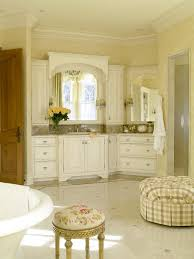 French Country Bathrooms Pictures by French Country Bathroom With Distressed White Vanity Cabinets Hgtv