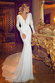chapel wedding dresses scalloped lace chapel trumpet sleeves wedding dress