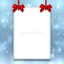 mockup christmas poster empty blank a4 size winter background