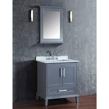 30 In Bathroom Vanities by Ace 30 Inch Single Whale Grey Bathroom Vanity Set With Mirror