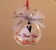 Christmas Ornament Wedding Gift Christmas Season Wedding Gifts Christmas Ornament Rare First Year