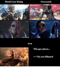 Metal Gear Rising Memes - metal gear rising overwatch this guy please thx you blizzard