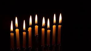 menorah candles hanukkah items holyday with menorah candles donuts stock