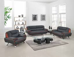 Livingroom Set Living Room Set Black U2015 Global United