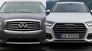 2017 infiniti qx60 hybrid premium 2016 infiniti qx60 vs 2017 audi q7 youtube