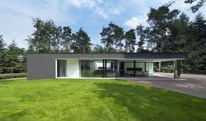 modern bungalow design in cubic volume visual effect home