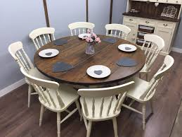 does round table deliver large round farmhouse table and chairs 6 8 seater shabby chic