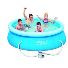 Intex 12x30 Pool Amazon Com Bestway 57099 Fast Set Pool Set 8 U0027 X 26