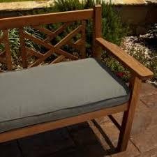 Patio Bench Cushion by Clara Tan Gray Stripe 60 Inch Outdoor Sunbrella Bench Cushion