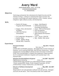 web architect resume apigee principal architect resume sample chino california