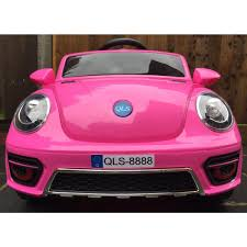 pink convertible volkswagen kids vw convertible beetle electric battery 12v ride on car pink