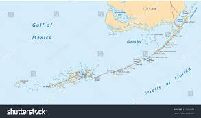 Keys Florida Map by Florida Keys Map Stock Vector 152883077 Shutterstock