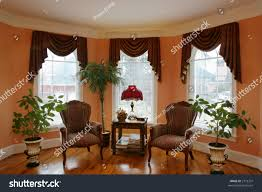 small living room with bay window home design